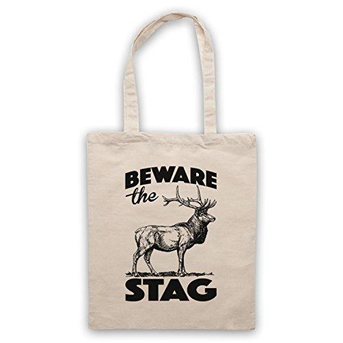 The Beware Natural Stag Do Stag Bag Slogan Tote Uvdxvrq