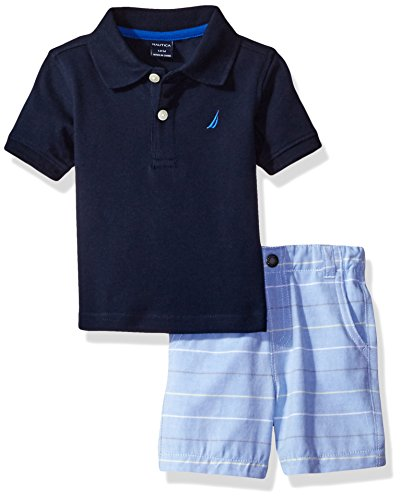 nautica-baby-boys-solid-polo-with-pattern-pull-on-short-setsport-navy24-months