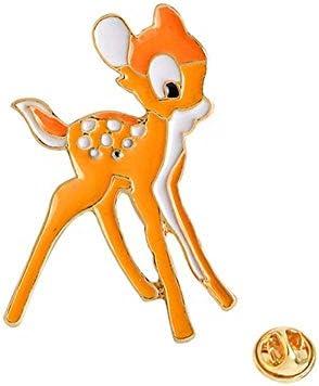 JIWEIER 19x32cm Cute Animal Deer Badge 3D Orange Enamel Pin Broche for jongens meisjes tshirt kraag jas Bags broches voor vrouwen