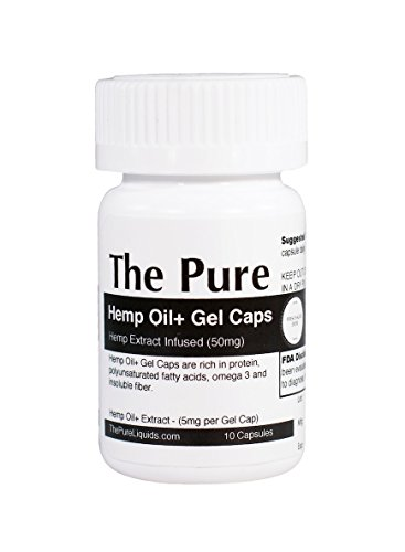 The-Pure-HO-Gel-Caps-50mg-Hemp-Oil-Extract-Supplement-Softgels-10-Capsules