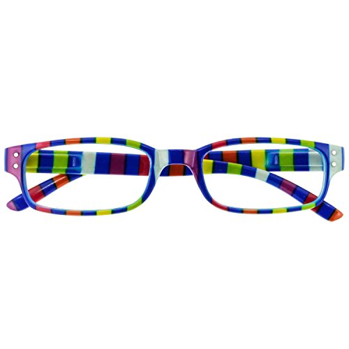I NEED YOU Readers Blue Striped Chaot Plastic Reading Glasses +3.0 Strength Or Choose Your - Lenses I Have Frames Need
