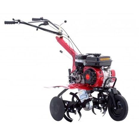 Motocultivador con arado simple y 6 fresas, motor OHV de 196 ...
