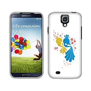 Fincibo (TM) Protector Cover Case Snap On Hard Plastic Front And Back For Samsung Galaxy S 4 I9500 I9505 I337 - Love Birds