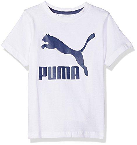 PUMA Big Boys' Archive Logo Tee, White, Medium (10/12)