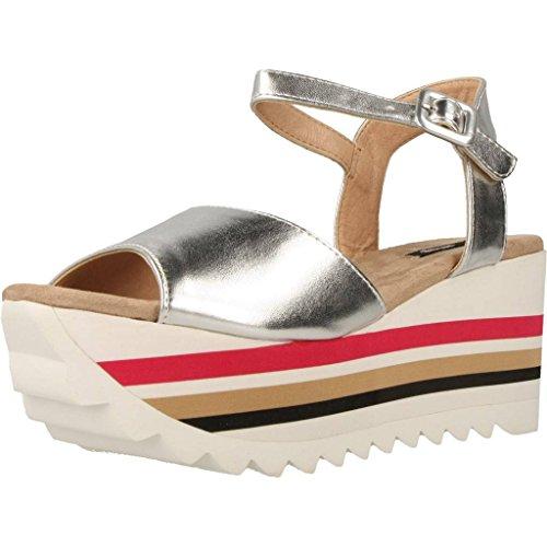 Sandalias y chanclas para mujer, color Plateado , marca MTNG, modelo Sandalias Y Chanclas Para Mujer MTNG 50812M Plateado Plateado