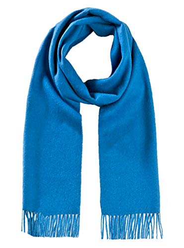 Natura Wool Baby Pure (Luxury 100% Pure Baby Alpaca Wool Scarf for Men & Women - A Great Gift Idea in Many Colors (Blue Azure))