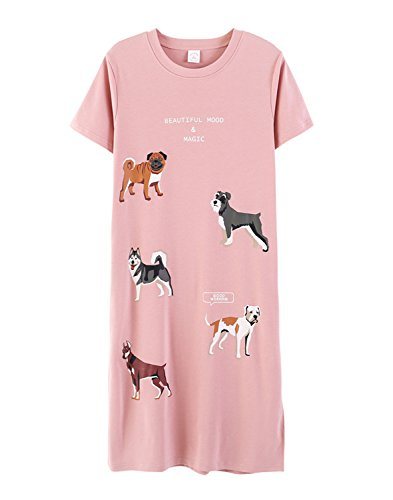 Big Girls Lovely Summers Cartoon Dog Dress Nightgowns by LLP