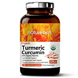 Organic Turmeric Curcumin 1500mg, 180 Veg Capsules, with Black Pepper Exact, Antioxidant & Anti-inflammatory for Joint Pain Relief, Non-GMO, Vegan Friendly and Made in USA