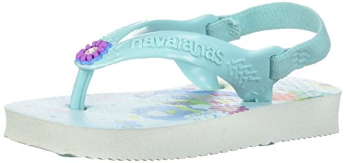 Havaianas Baby Disney Princess Sandal White/ICE Blue, 19 BR (5 M US Infant) ()