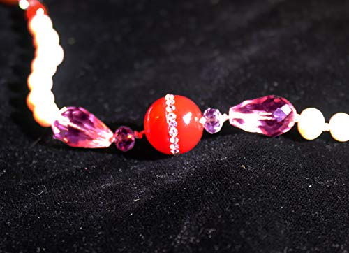 Isis Pearl and Carnelian with Quartz and Marcasite Pendant 108 Gems (Mala)