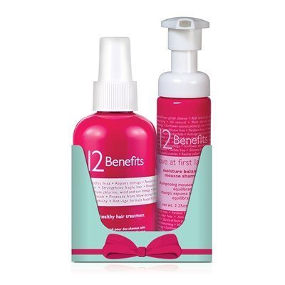 12 Benefits Healthy Hair Treatment 6 Oz. Shampoo 2 Oz Duo