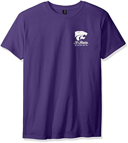New World Graphics NCAA Oval Label Short Sleeve, Xx-Large, Purple -