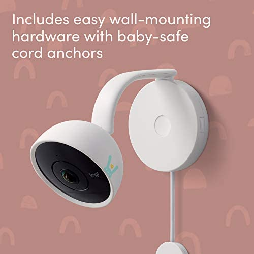 41DWHt1F4WL. AC - Lumi By Pampers Smart Baby Monitor: Camera With HD Video & Audio – WiFi – Night Vision – Temperature & Humidity Tracking And Two Way Audio