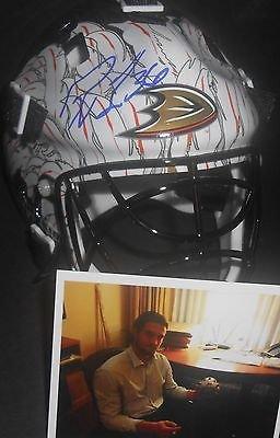 John Gibson Anaheim Ducks Autographed Signed Mini Goalie (Signed Goalie Mask)