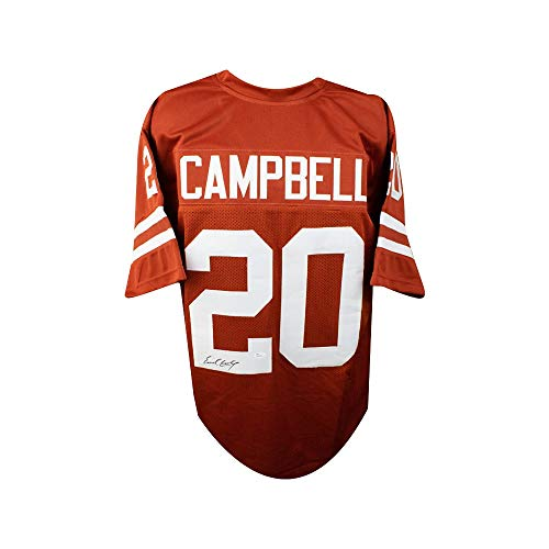 Longhorns Football Texas Jersey (Earl Campbell Autographed Texas Longhorns Custom Football Jersey JSA Basic)
