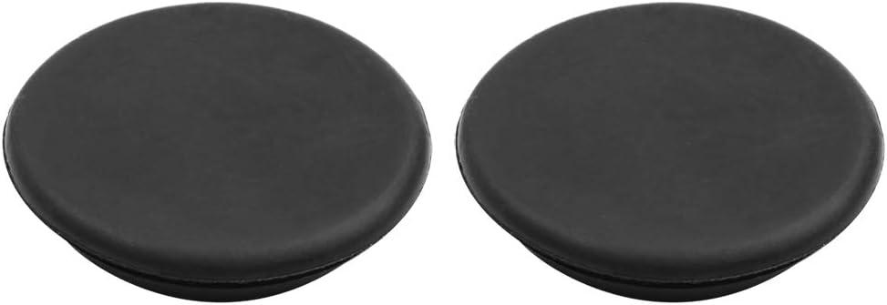 X AUTOHAUX Car Rubber Grommet Plug Flush Mount Wire Gasket Interior 45mm x 10mm Black 2pcs