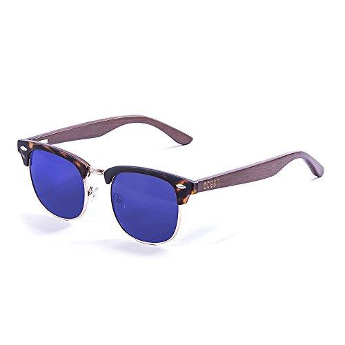 Ocean Sunglasses Remember Lunettes de soleil Demy Brown Frame/Wood Brown Arms/Revo Blue Lens Qc6gX
