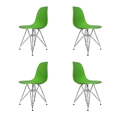 Ventamueblesonline Pack 4 SILLAS Tower Chrome Verdes Extra ...