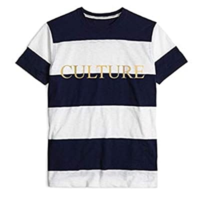 Migos Culture Stripe Black & White T-Shirt