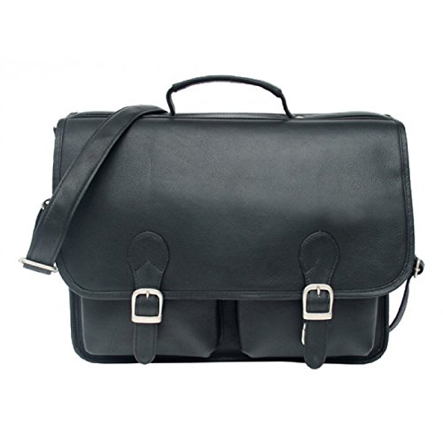 (Piel Leather Briefcase Executive Two Pocket 15
