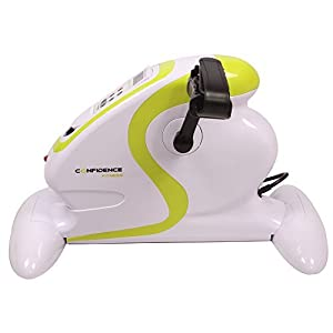 Confidence Fitness Motorized Electric Mini Exercise Bike / Pedal Exerciser White (Certified Refurbished) by Confidence