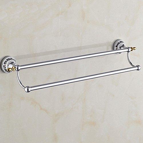 Aqua Brass Chrome Towel Bar - 5