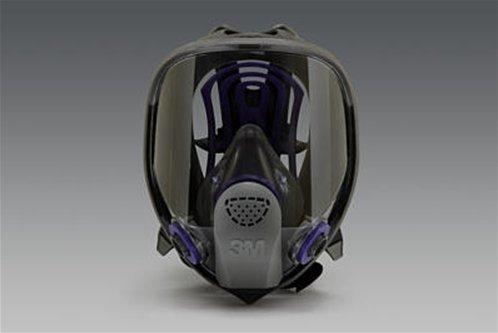 3M FF-402 Black/Blue Medium Silicone Full Facepiece - Bayonet Connection - 70071510807 [PRICE is per EACH]