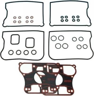 James Gaskets Rocker Cover Kit W/ Metal Rocker Base Gasket - James Rocker Gasket