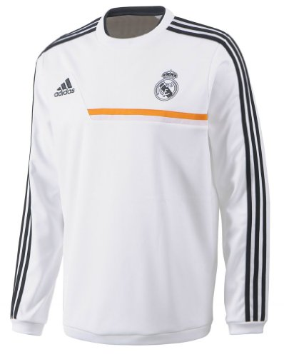 c65e5f815a6 Galleon - 2013-14 Real Madrid Adidas Sweat Top (White)
