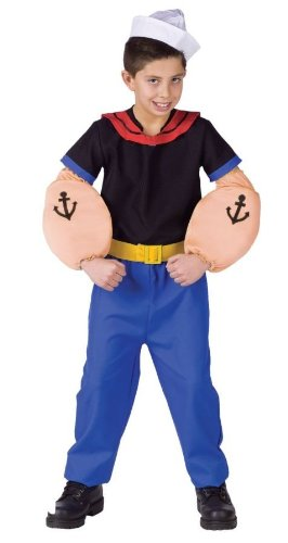[Popeye Costume - Toddler Large] (Girl Popeye Costume)