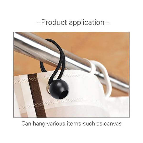 41DWKAq46HL 30 Stück Spanngummi mit Kugel schwarz 12cm + 18cm, Expanderschlinge | Planenspanner | Zeltgummis | Gummischlaufen…
