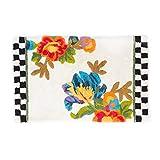 MacKenzie-Childs White Flower Market Bath Mat