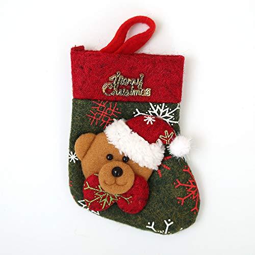 Mydufish Lovely Christmas Stockings Socks Gloves New Navidad New Year Santa Claus Candy -