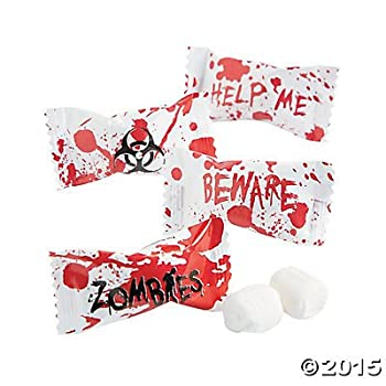 Zombie Party Halloween Favors - Candy Buttermints - 108 pcs