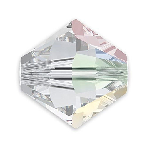 Swarovski 5328 3mm Crystal AB Bicone Bead (Package of - Aurora Borealis Crystal Austrian