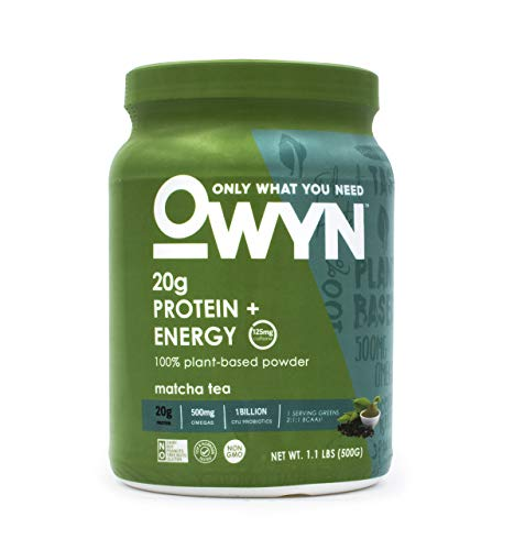 OWYN Only What You Need 100% Vegan Plant-Based Protein Powder, Matcha Tea, Dairy Free, Gluten Free, Soy Free, Allergy Friendly, Vegetarian, 1.1 Pound Tub, 1 Count