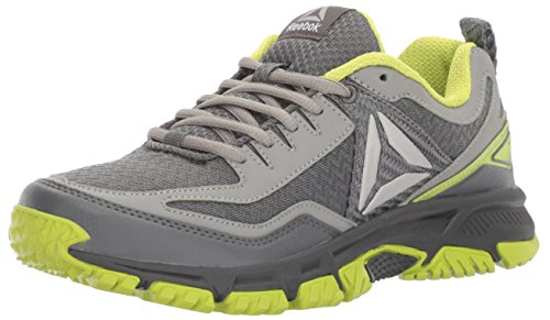 Reebok WoMen Ridgerider Trail 2.0 Track Shoe, Grey Alloy/Flat Grey/Kiwi Green