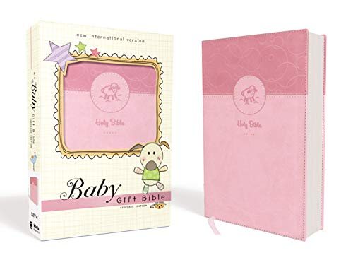 NIV, Baby Gift Bible, Holy Bible, Leathersoft, Pink, Red Letter Edition, Comfort Print: Keepsake -