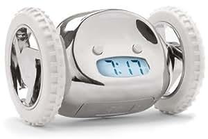 Clocky Alarm Clock On Wheels, Chrome