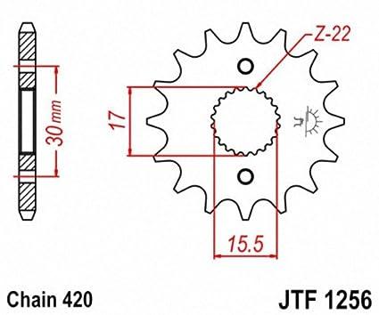 JT Sprockets JTF1256.16 16T Steel Front Sprocket
