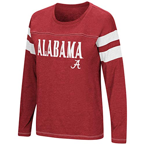 Colosseum Women's NCAA-Game of My Life-Dolman Long Sleeve Tee-Alabama Crimson Tide-Crimson-XL