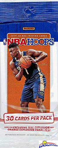 2019/20 Panini Hoops NBA Basketball HUGE Factory Sealed JUMBO FAT PACK with 30 Cards! Loaded with ROOKIES & INSERTS! Look for RCS & AUTOS of ZION WILLIAMSON, Ja Morant, RJ Barrett & More! WOWZZER!