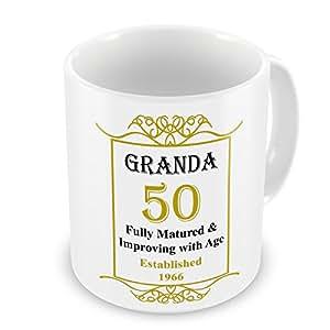 Granda 50th cumpleaños establecido 1966 años - Taza de oro