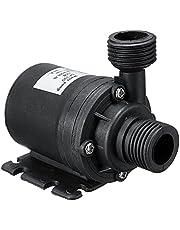 Decdeal Bomba de água ultra silenciosa de 19 W, mini bomba de água submersível de motor sem escovas DC 12 V 5 M 800 L/H