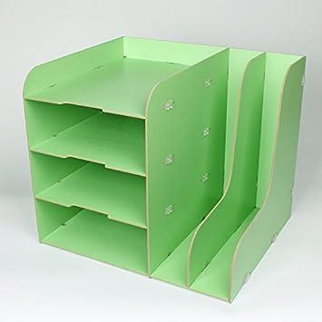 BRICOLAJE pared literatura titular archivo soporte resistente a los arañazos de carga frontal carta presentación bandejas