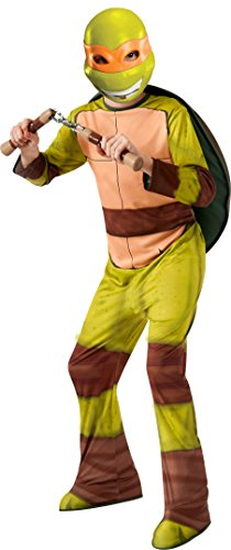 [Teenage Mutant Ninja Turtles Michelangelo Costume, Large] (Party City Teenage Girl Costumes)