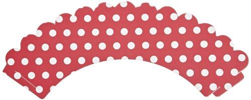 Hoffmaster 611130 Polka Dot Cupcake Wrapper, 9