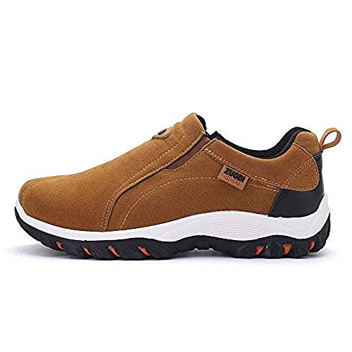 MOIKA Faux Suede Sneaker Shoes,Clearance Outdoor Hiking Shoes,Mens Non-Slip...