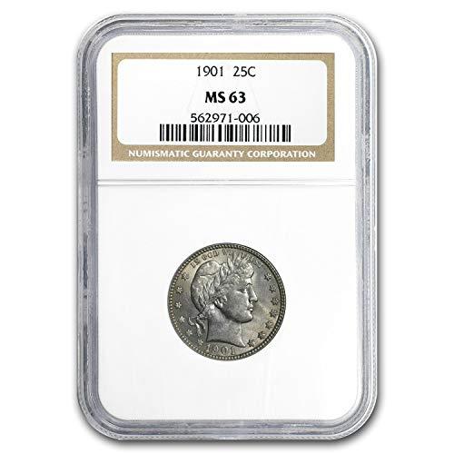 1901 Barber Quarter MS-63 NGC Quarter MS-63 NGC