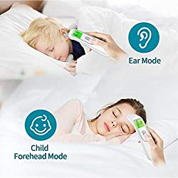 Nuanxingjiafang Thermometer, Children's Infrared Thermometer, Home Infrared Thermometer, Automatic Temperature and Ear Temperature Switch, Store 40 Groups of Memory Well Made